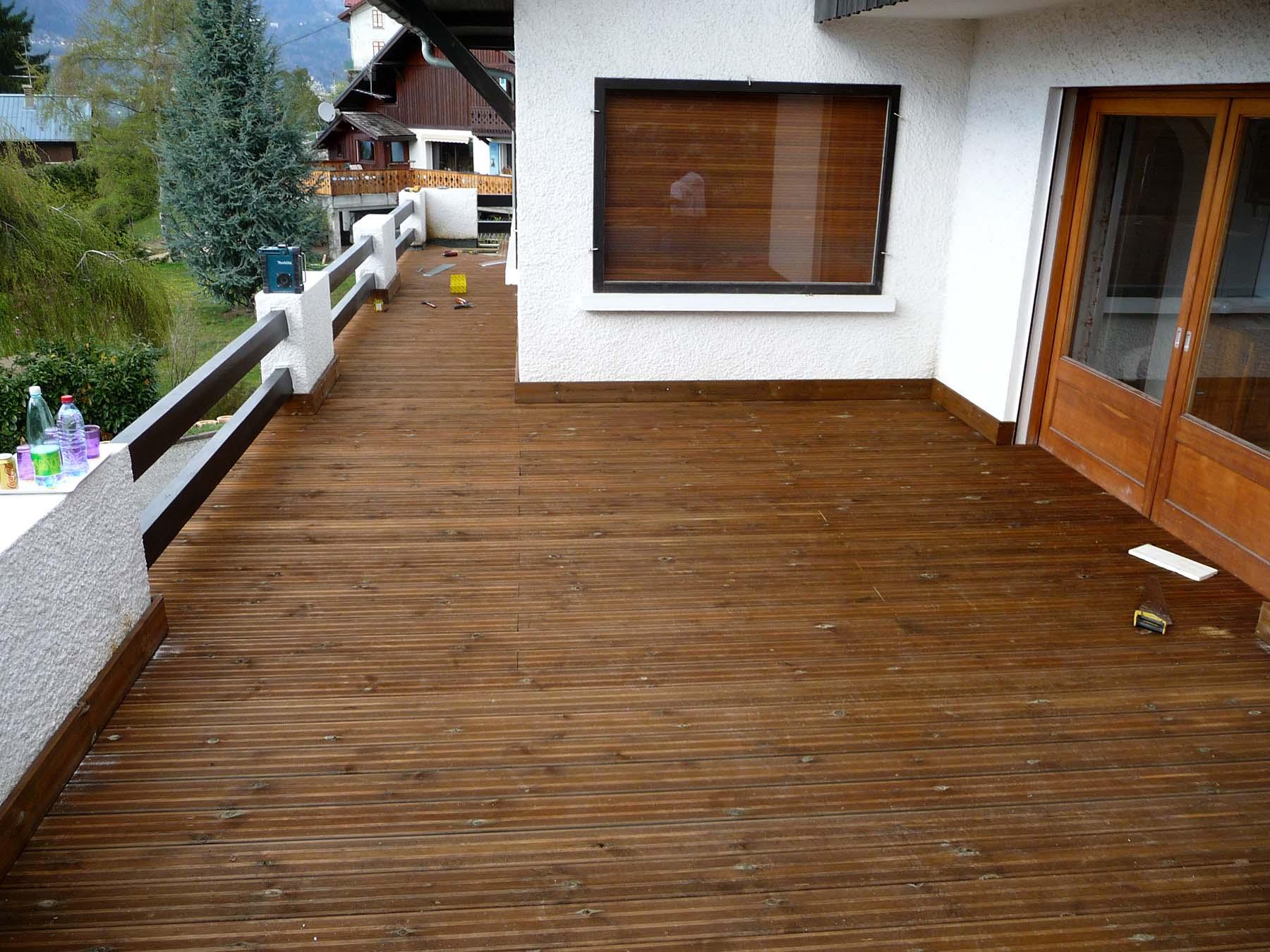 Protection terrasse bois (Après)
